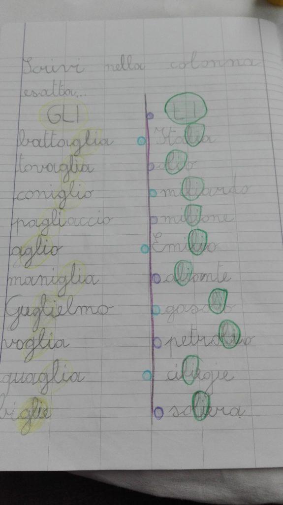 Classe Seconda Italiano Digramma Gl Ottobre Maestra Anita