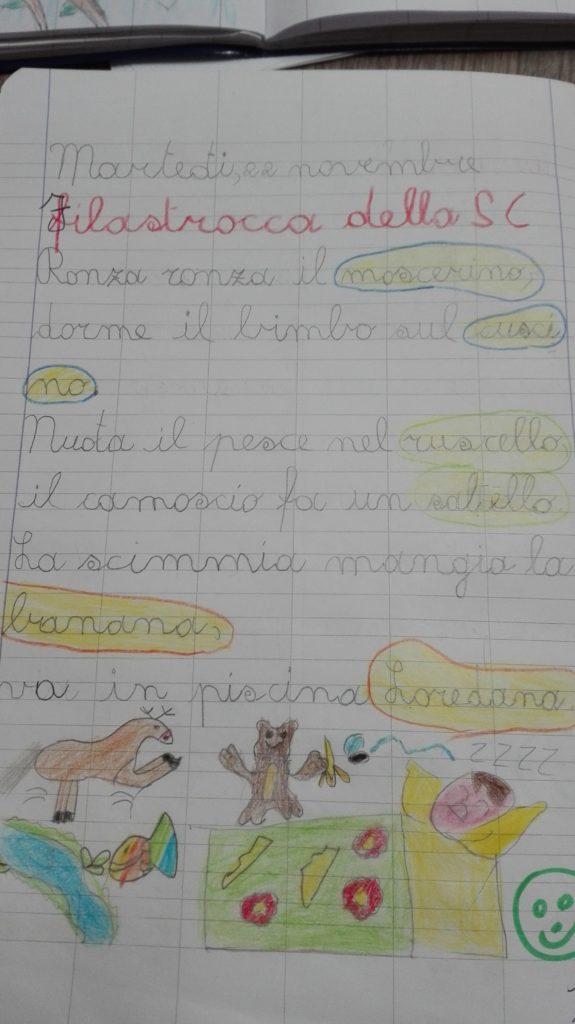 Classe Seconda Italiano Digramma Sc Novembre Maestra Anita