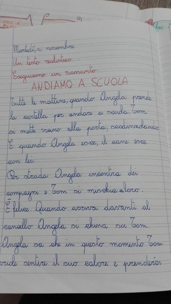Classe Terza Italiano Il Testo Realistico Novembre Dicembre