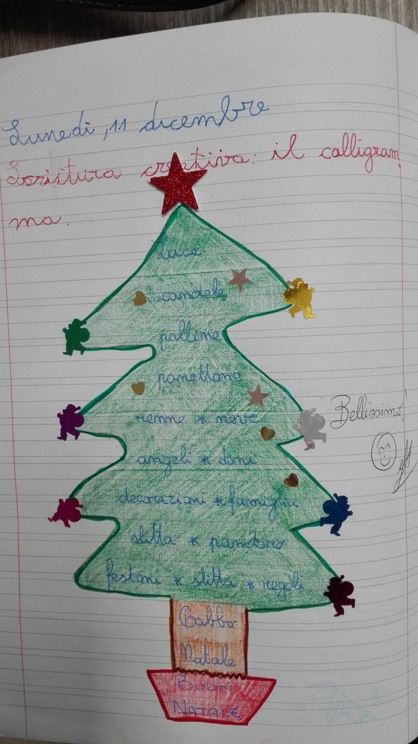 Poesie Di Natale In Rima Baciata.Testo Fantastico Calligramma Sul Natale Terza Maestra Anita