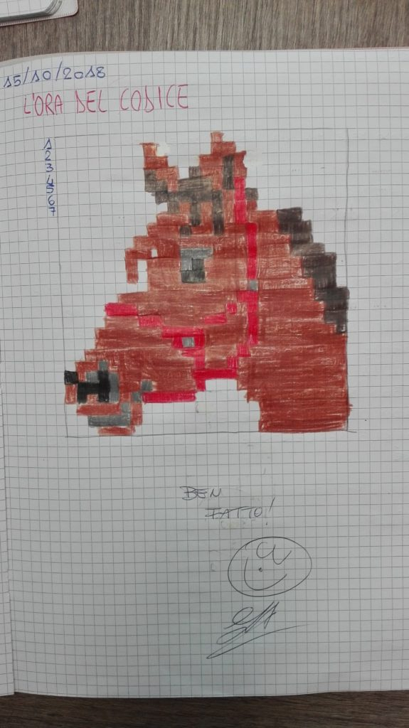 cavallo in pixel art