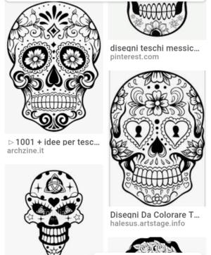 Disegni Da Colorare Teschi Messicani Free Downloads
