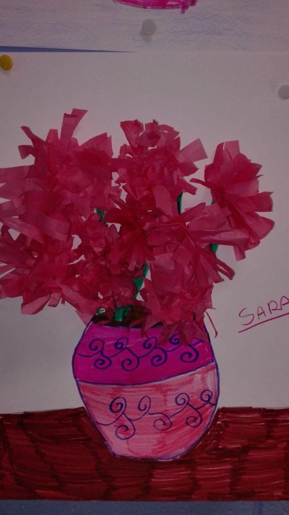 fiori con carta velina