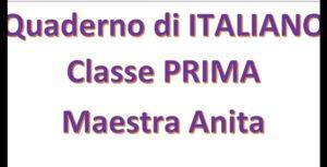 quaderno di italiano
